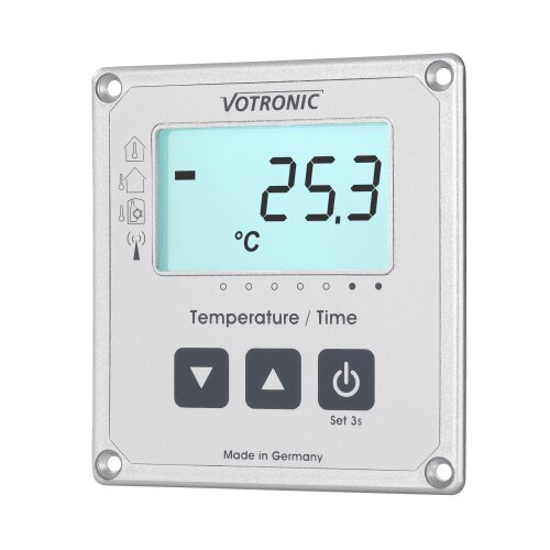 Votronic LCD-Thermometer / Uhr S mit Extern-Sensor - 1253