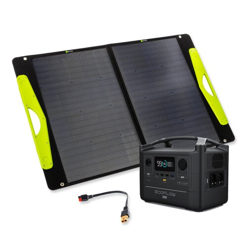EcoFlow RIVER MAX Powerstation Bundle mit SolarBuddy Solartasche